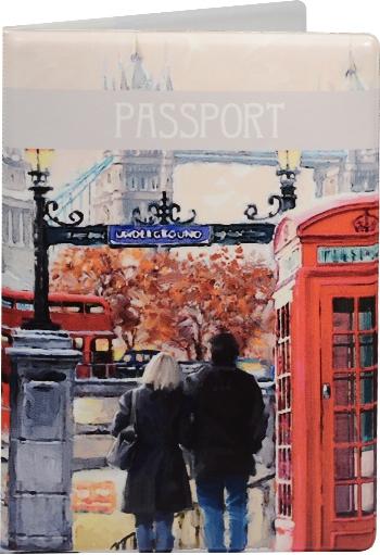 """Обложка для паспорта """"London: Акварель"""""""