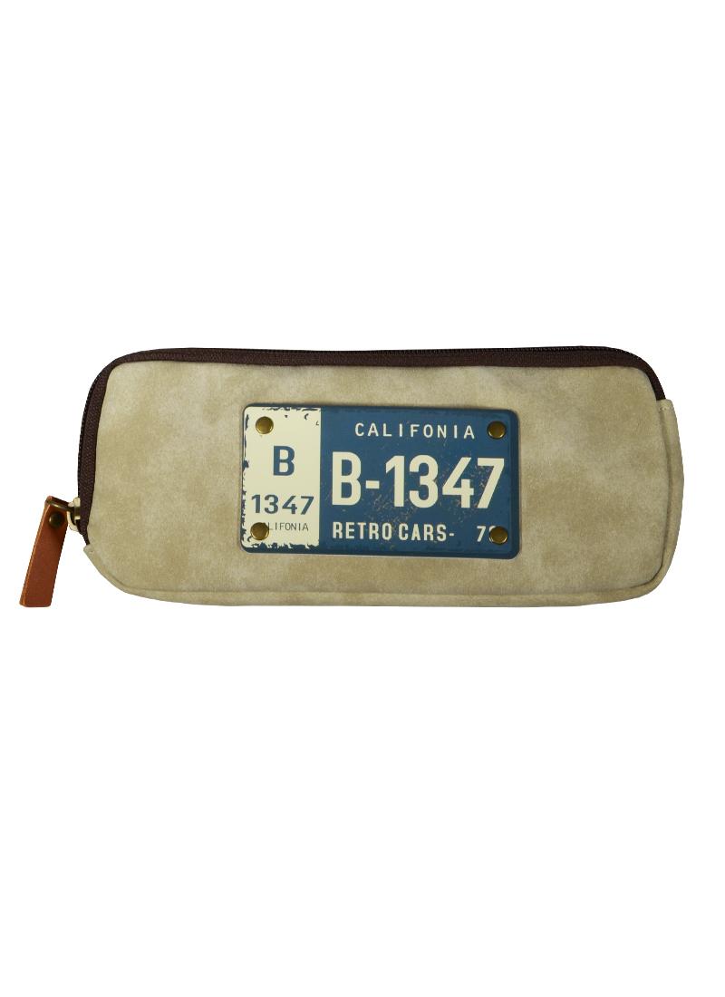 Пенал на молнии Номерной знак (ткань) (19х7,5)