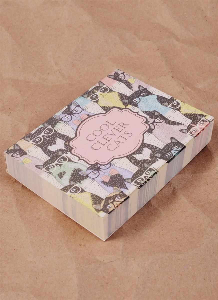Блок для записей Cool Clever Cats (190л) (8х10,5)