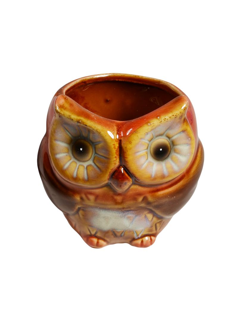 Подсвечник Сова керамика 9см