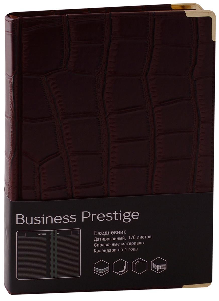 """Ежедневник датированный 2018г. А5 176 листов """"Prestige. Impact"""" темно-коричневый"""