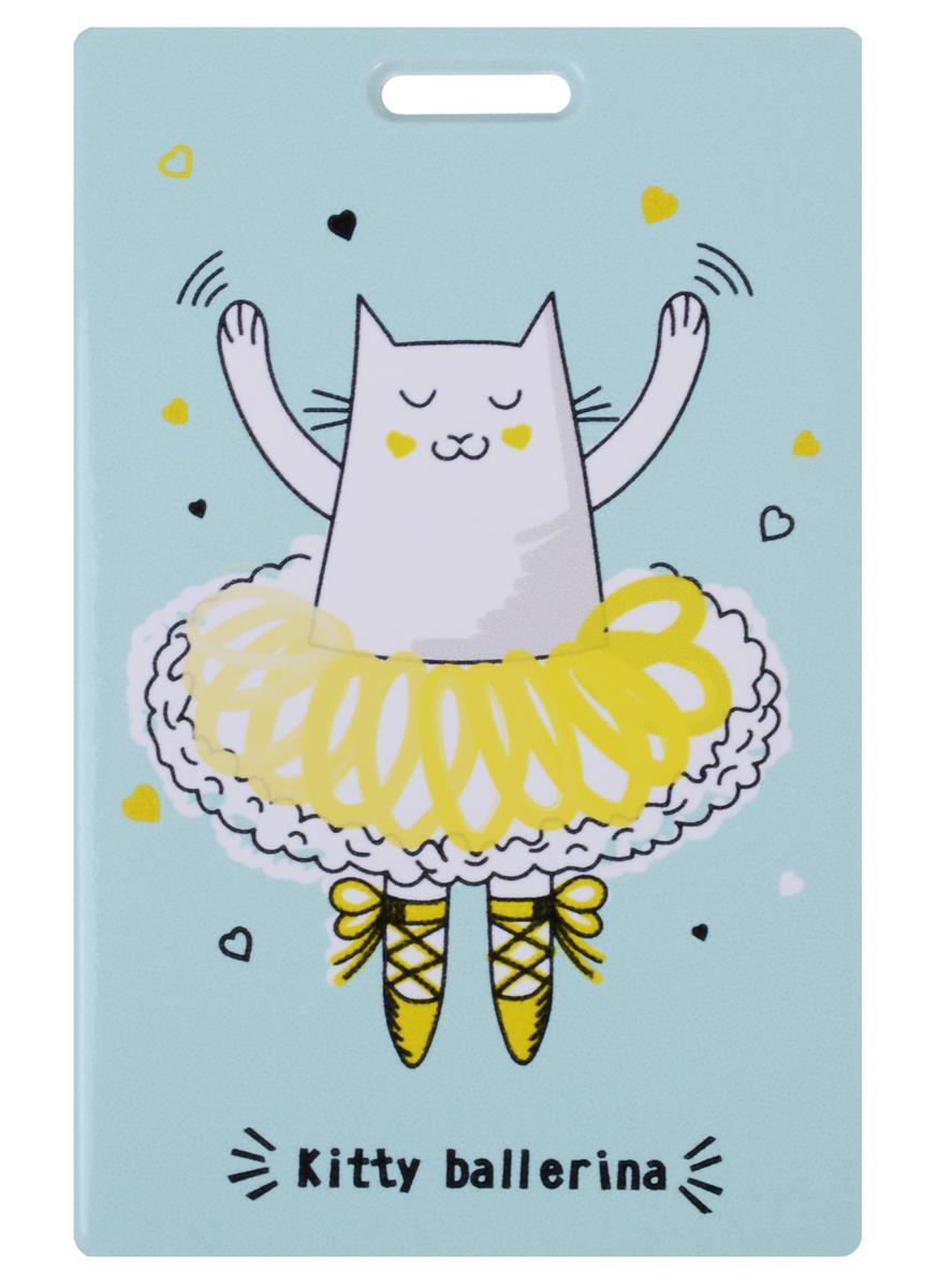 Чехол для карточек Kitty ballerina мятный