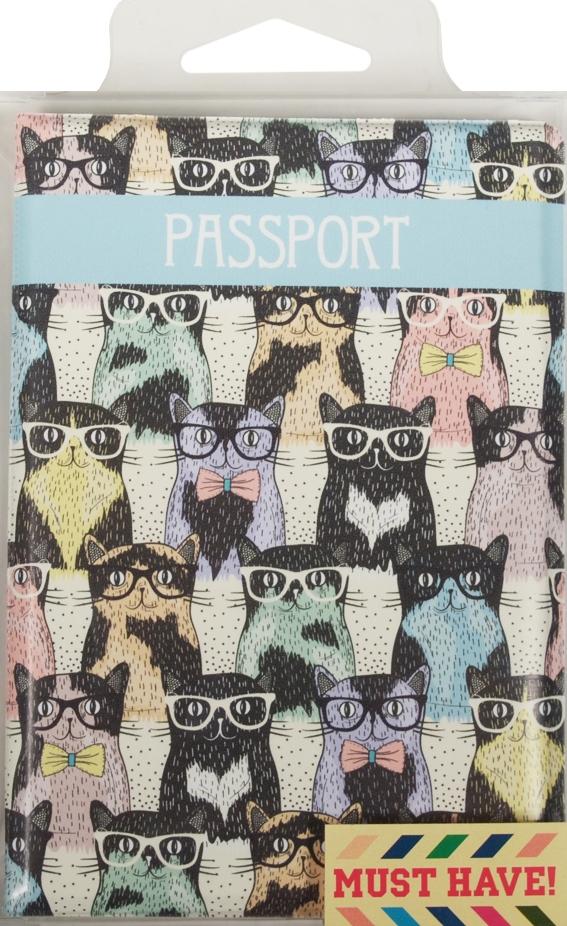 "Обложка для паспорта ""Cool Clever Cats"""
