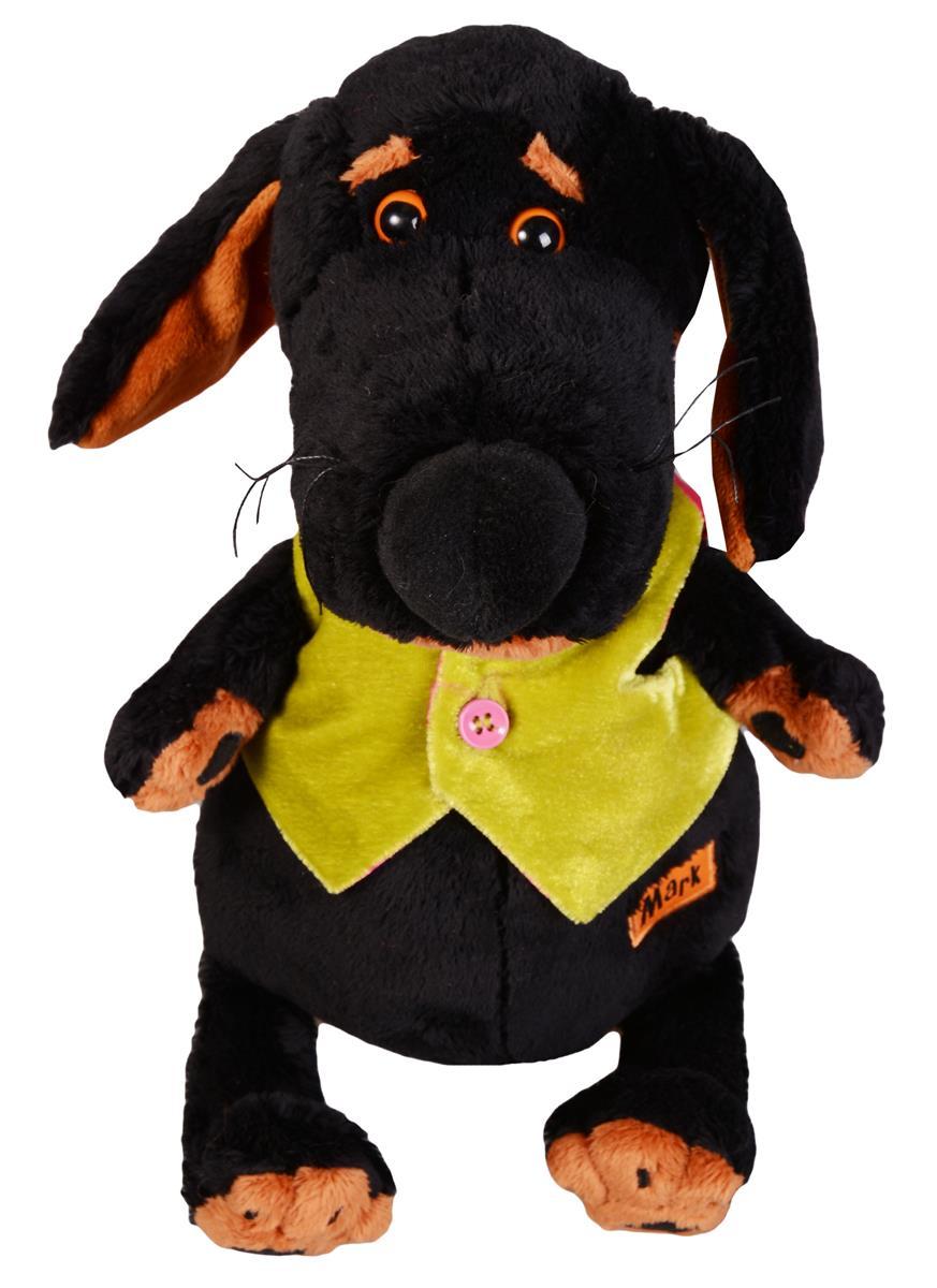 Мягкая игрушка Такса Ваксон в жилетке (25 см)