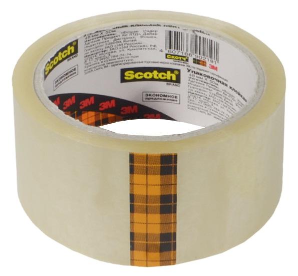 Лента клейкая прозрачная, 48мм*50м, Scotch
