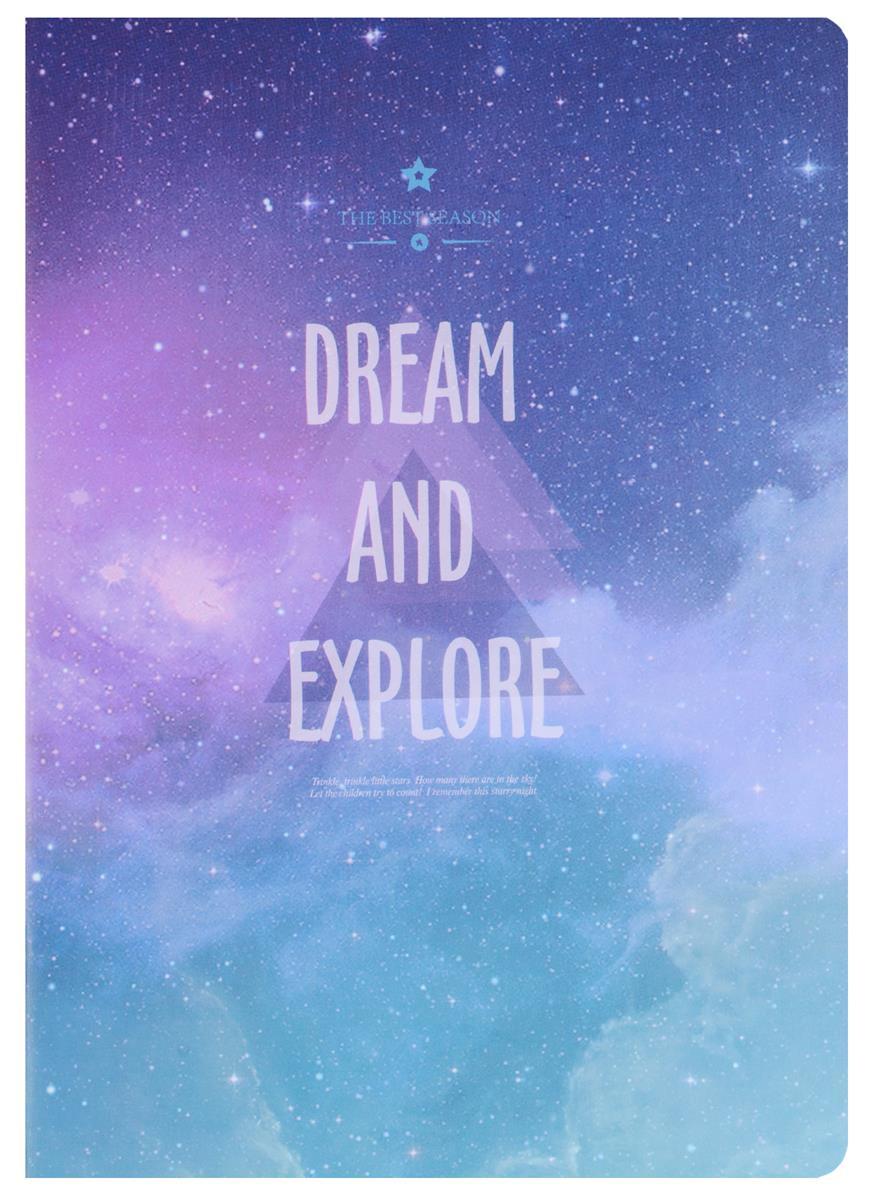 """Записная книжка A6 40 листов линейка """"Dream and Explore"""""""