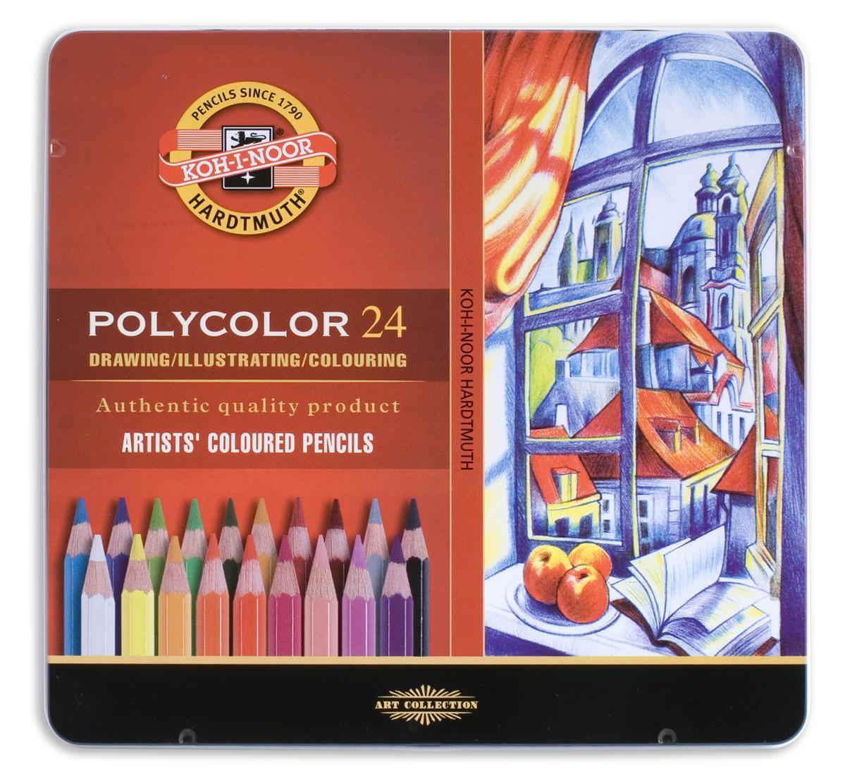 """Карандаши цветные """"Polycolor"""", 24 цв, Koh-I-Noor"""