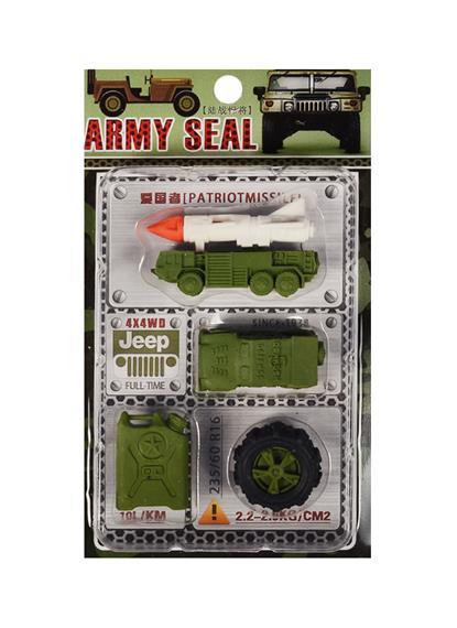 Набор Ластики пазлы Армия (блистер) (12-21344-8017)
