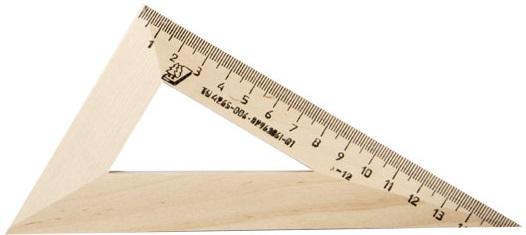 Угольник 15см 30*60*90 деревянный