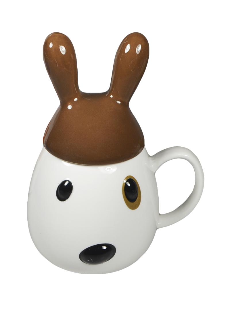 """Кружка """"Кролик"""" с коричневой крышкой (002947) (Карамба)"""