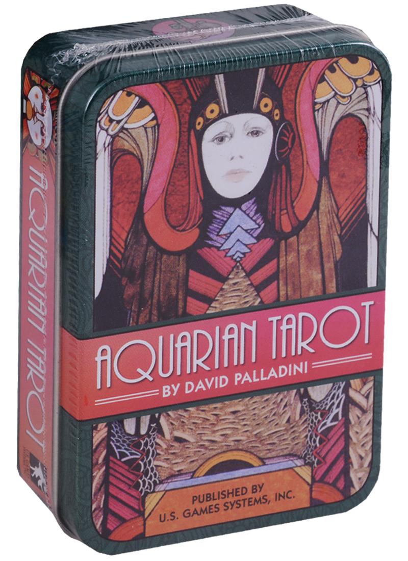 Palladini D. Aquarian Tarot in a Tin / Водолей Таро (карты + инструкция на английском языке в жестяной коробке)