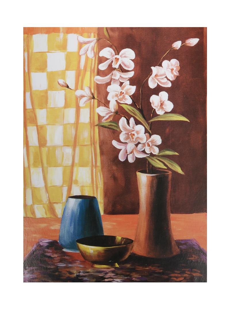 Картина Цветы в ассортименте (18х24) (дерево)