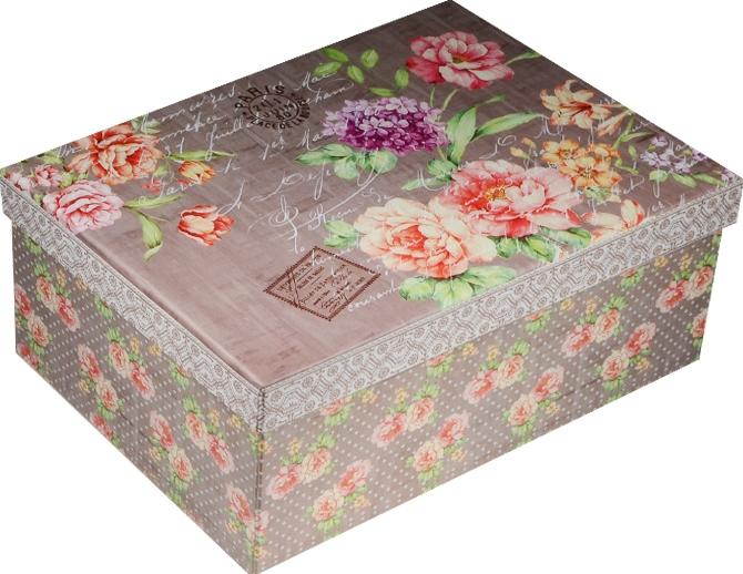 """Коробка подарочная """"Цветочное послание"""" 19*13,5*8см"""
