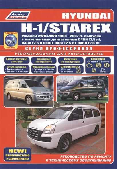 Hyundai H-1/Starex. Модели 2WD&4WD 1998-2007 гг. выпуска с дизельными двигателями D4BH (2,5 л.), D4CB (2,5 л. CRDi), D4BF (2,5 л.), D4BB (2,6 л.). Руководство по ремонту и техническому обслуживанию (+ полезные ссылки)