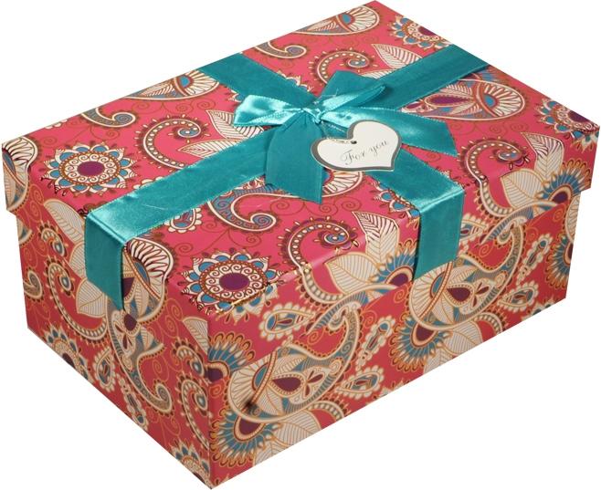 """Коробка подарочная """"Бирюзовые огурцы"""" 15*11*8см"""