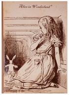 Блокнот Алиса в стране чудес (Алиса и кролик) (крафт) (БТ2017-113)