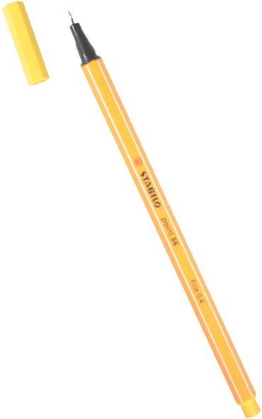 Ручка капиллярная желтая