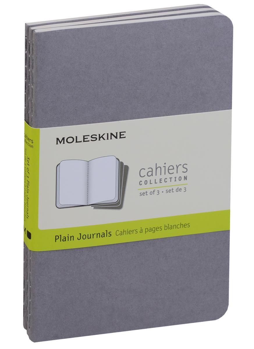 """Записная книжка А6 32л нелин. """"Cahier Journal Pocket"""" (3шт.) серая, обложка картон, Moleskine"""