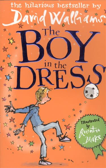 Walliams D. The Boy in the Dress frill fringe off the shoulder dress
