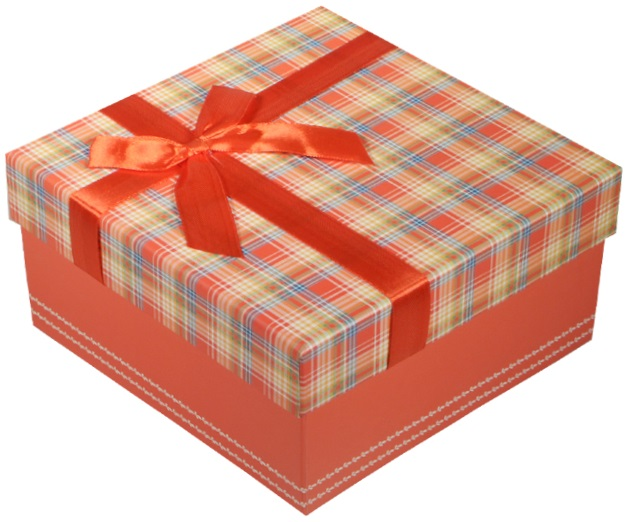 """Коробка подарочная """"Клетка красная"""", 17*17*9см"""