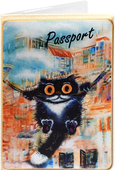 """Обложка для паспорта """"Cats in the City: Качели"""""""