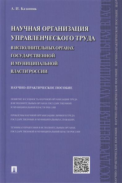 Научная организация управленческого труда в исполнительных органах государственной и муниципальной власти России: научно-практическое пособие