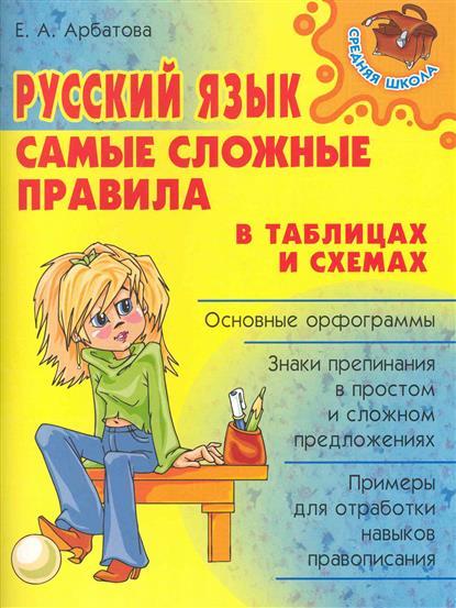 Русский язык Самые сложные правила в таблицах и схемах