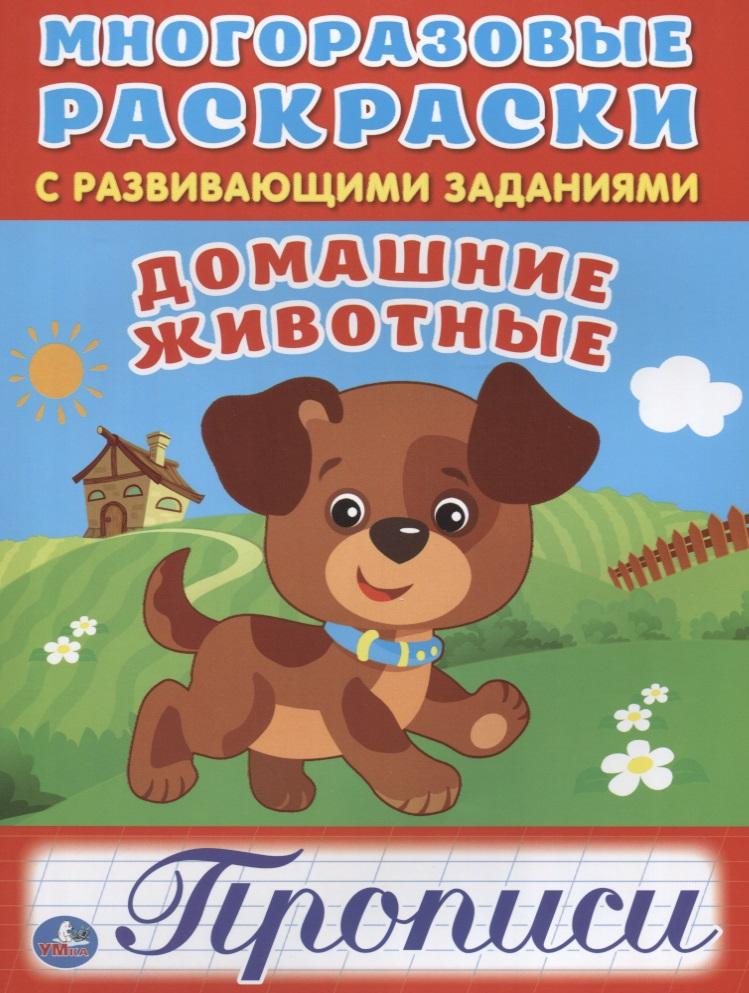 Чичик Е., Чернова И. (худ.) Домашние животные. Прописи. Многоразовые раскраски с развивающими заданиями
