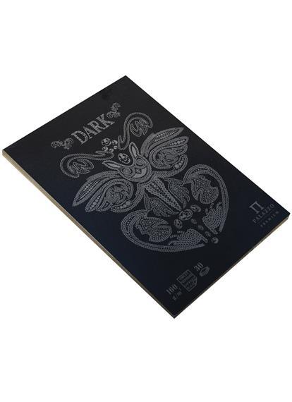 """Планшет для эскизов А5 30л """"Dark"""" черный тонированный офсет, 160г/м2, Гознак"""
