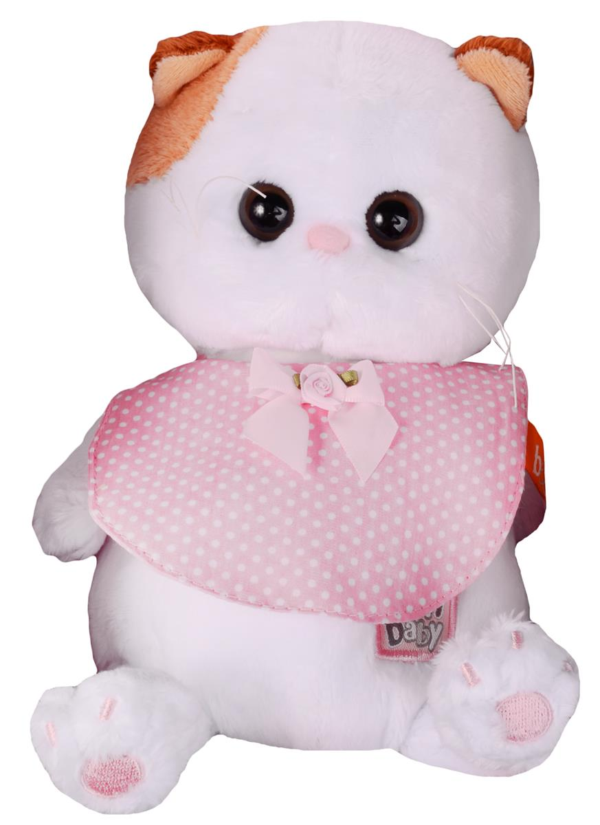 Мягкая игрушка Ли-Ли BABY в розовом слюнявчике (20 см)