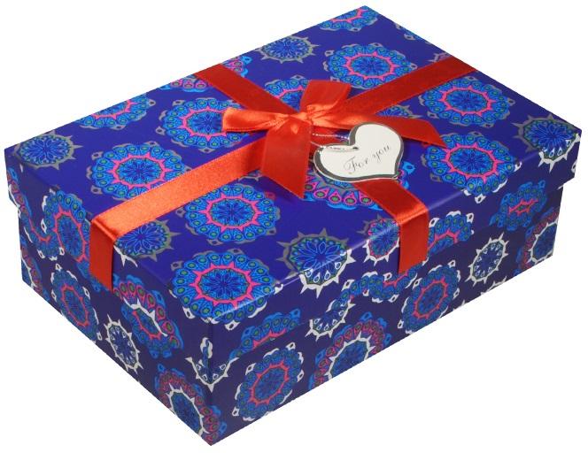 "Коробка подарочная ""Снежинки"", 10,5*17,5*5,5см"