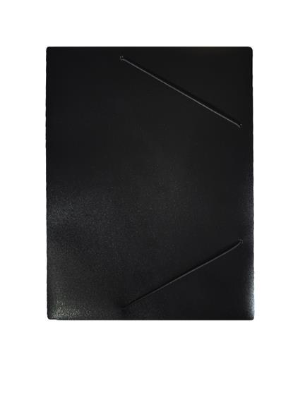Папка на резинке А4 пластик 0,4мм, ассорти, Бюрократ