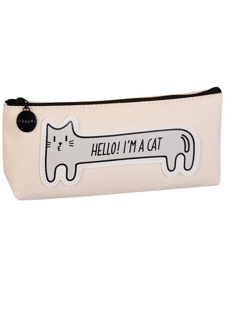 Пенал на молнии Кошка Hello,I'm a Cat (ткань) (20х8)