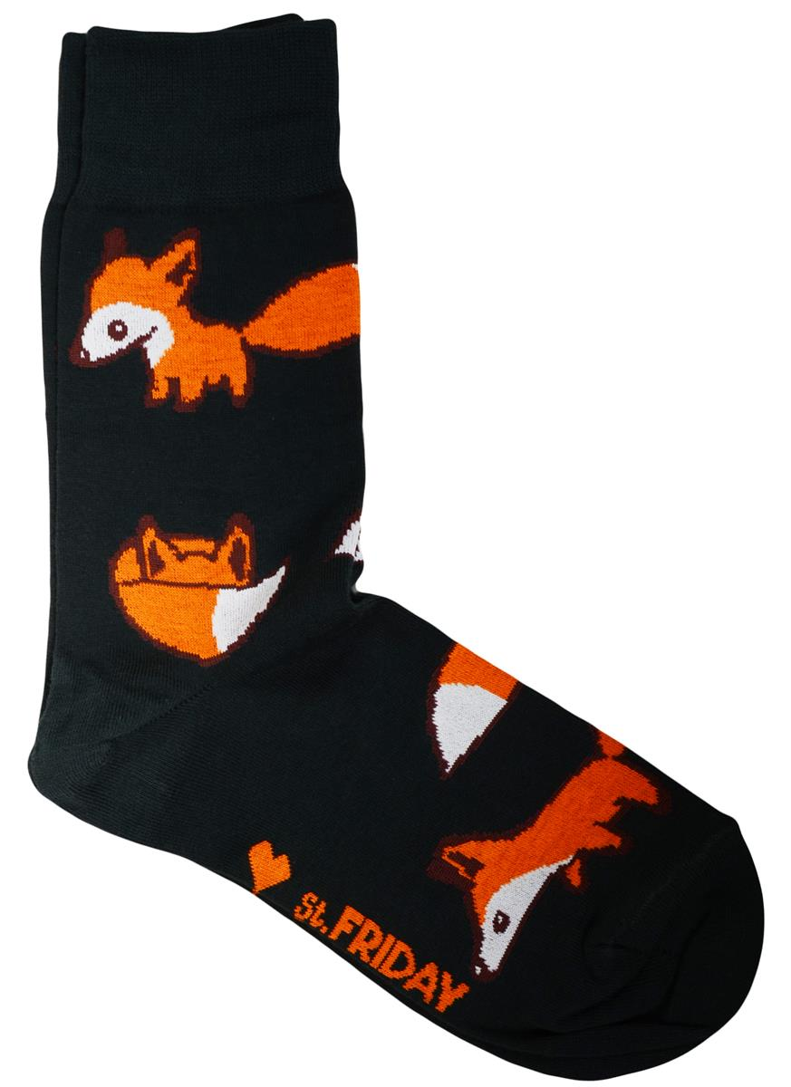 Дизайнерские носки Лисы хаки (размер 39-41)