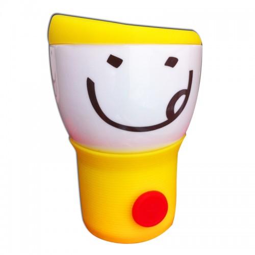 Кружка с силиконовой крышкой Smylie Guy, желтая (110WG-1-234-4) (Ритейл Айдиа)