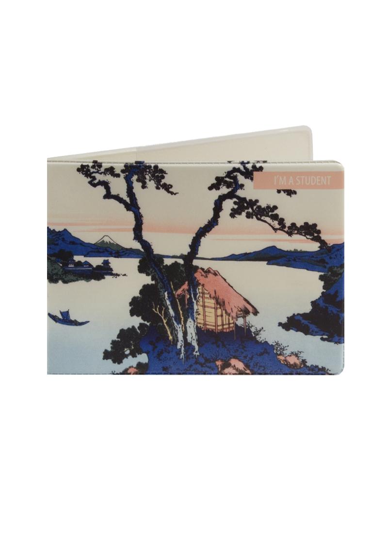 Обложка для студенческого Кацусика Хокусай Озеро Сува