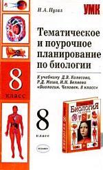 ТиПП по биологии 8 кл