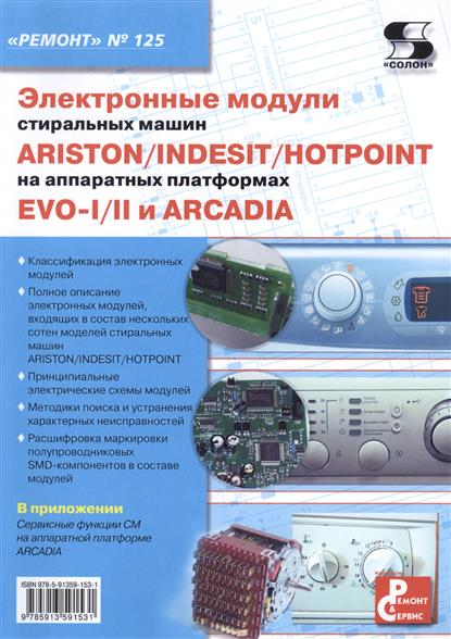 Электронные модули стиральных машин INDESIT/ARISTON/HOTPOINT на аппаратных платформах EVO-I/II ARCADIA. Выпуск № 125