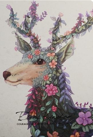 "Тетрадь 40л кл. ""Animals in the Flowers"", сшивка, ассорти, Languo"