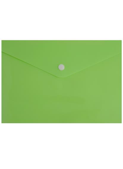 Папка-конверт А5 на кнопке НЕОН, пластик 0,18мм, ассорти, Tramix