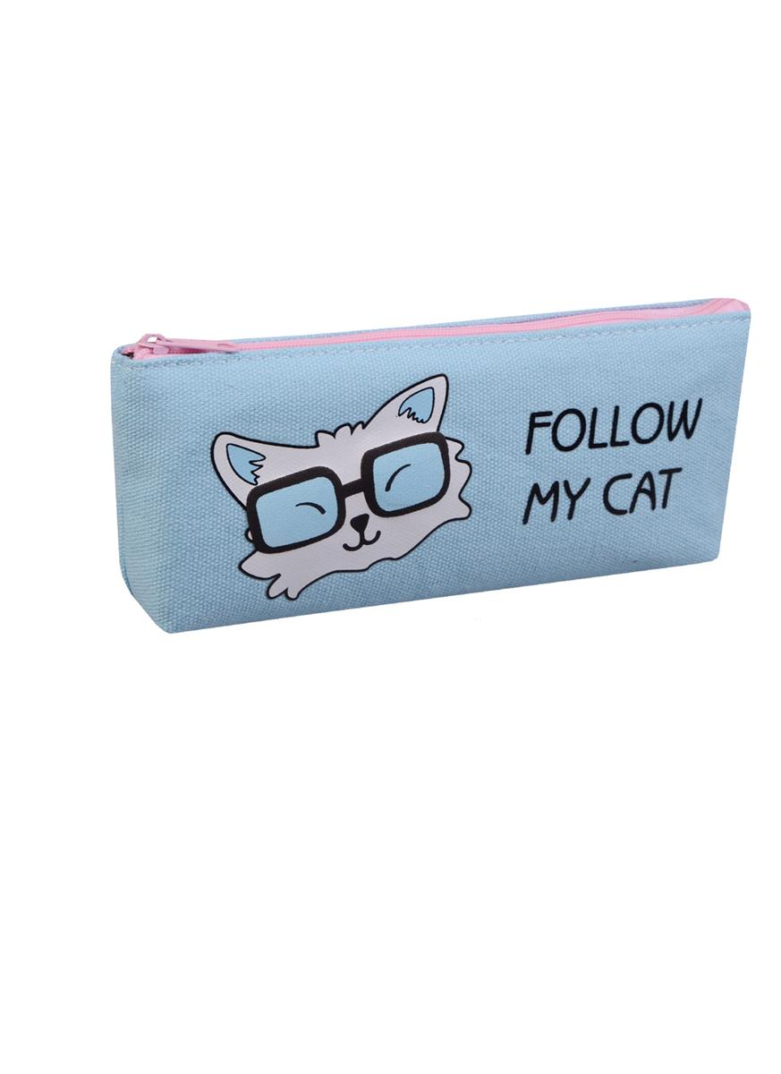 "Пенал на молнии ""Follow my cat"""