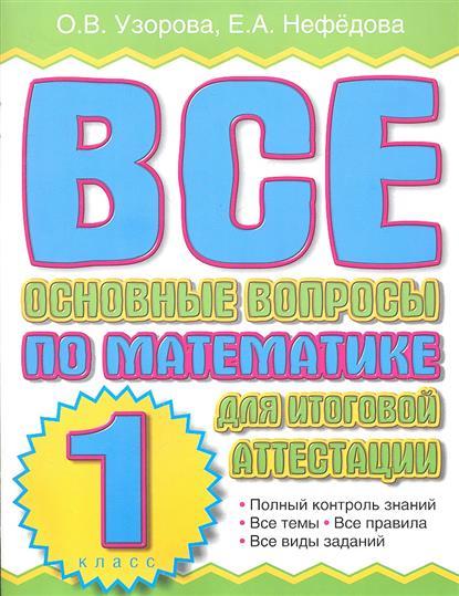 Все основные вопросы по математике для итоговой аттестации. 1 класс