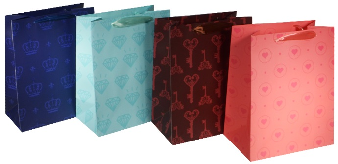 """Пакет подарочный бумажный """"Штампики в цвете"""", А5"""