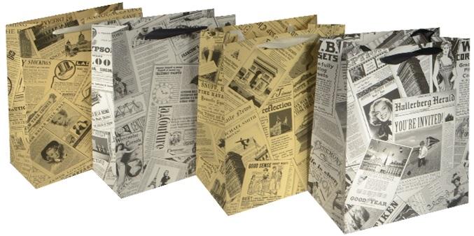 Пакет подарочный бумажный