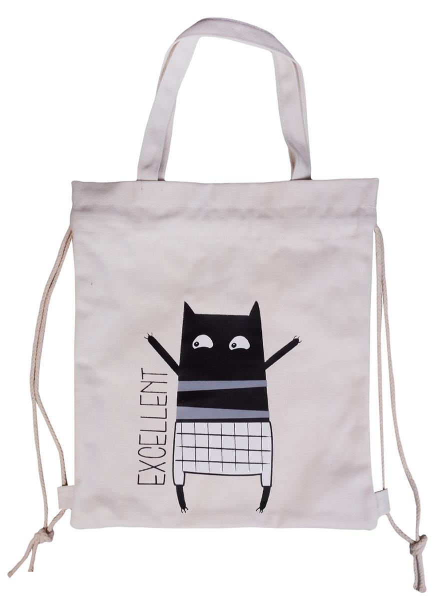 Сумка-рюкзак Веселый кот (32х39)(текстиль)