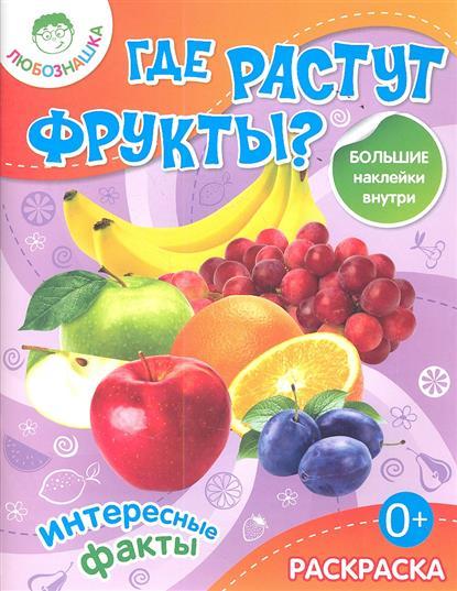Любушкина В.: Где растут фрукты? Большие наклейки внутри