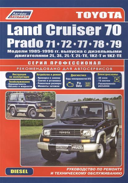 Toyota Land Cruiser 70 Prado 1985-96 c диз. двиг. автомобиль подержанный в москве land cruiser 70