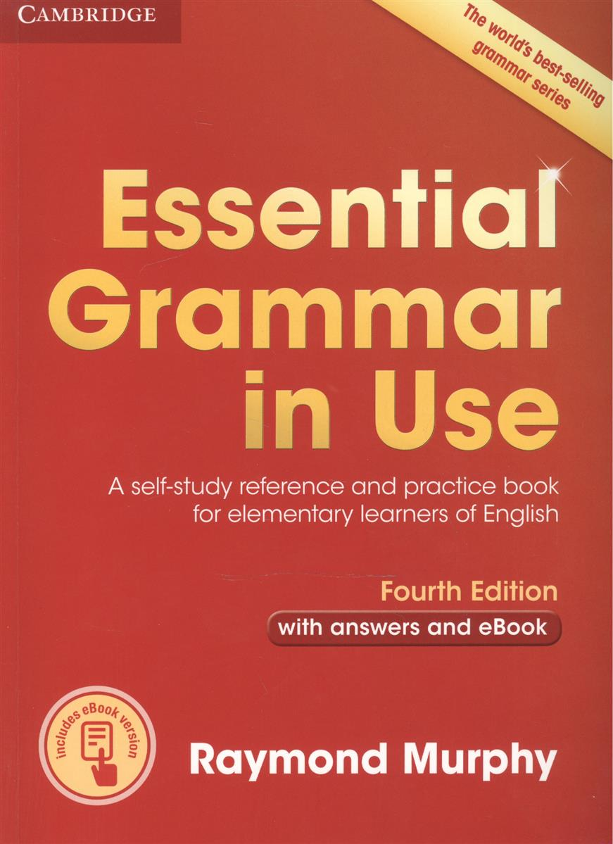 Murphy R. Essential Grammar in Use. A self-study reference and practice book for elementary learners of English. Fourth Edition with answers and eBook crocodile skin pattern cow leather wristwatch strap watchband black size 20l