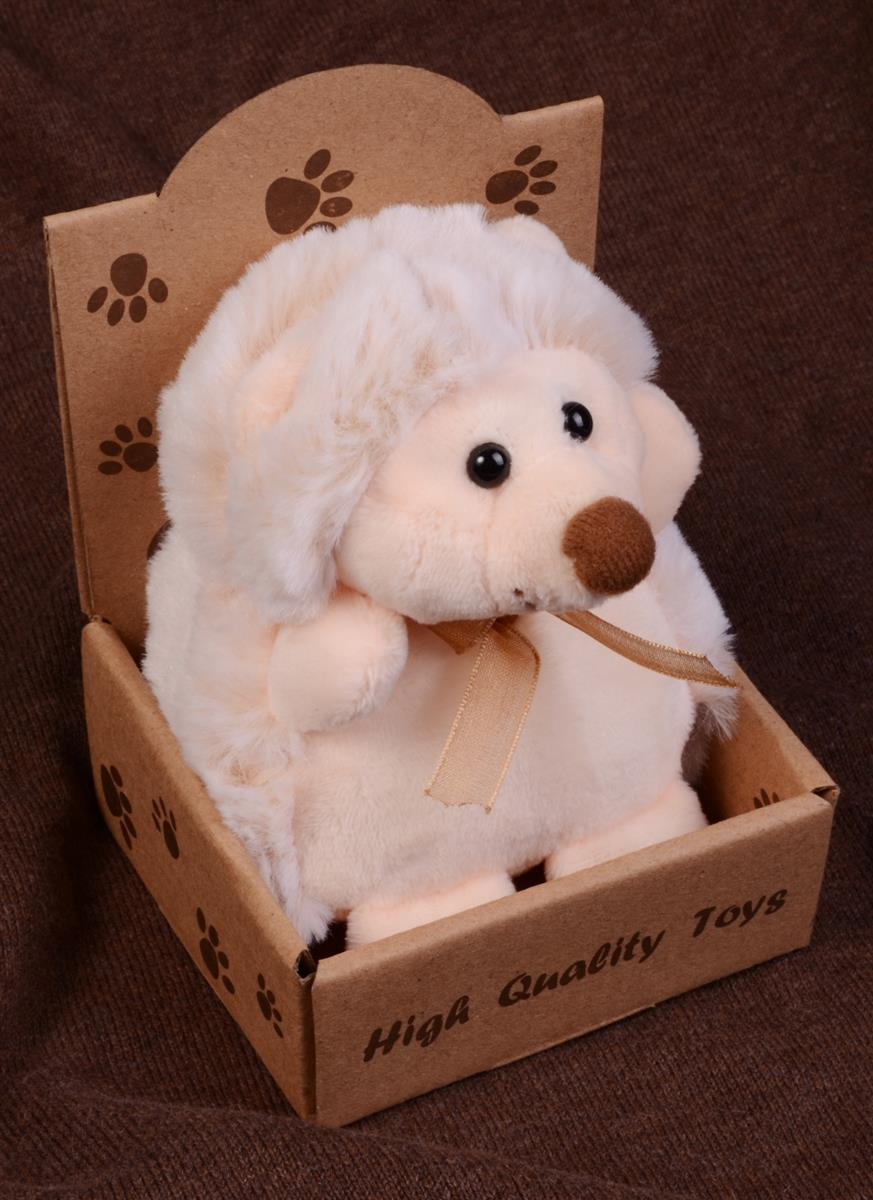 Ёжик белый в крафт коробке