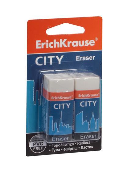"Ластик 02шт ""CITY"", блистер, ErichKrause"